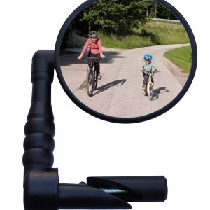 Handlebar Mount Rear View Mirror Wide Angle