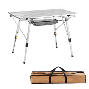Adjustable Legs Outdoor Folding Portable Picnic Camping Table