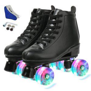 XUDREZ Roller Skates Adjustable Soft Leather