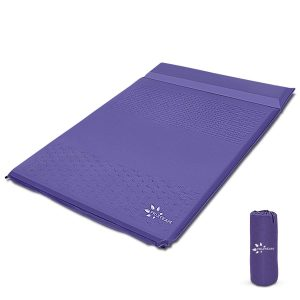 Self-Inflating Double Camping Pad with Pillow for Backpacking