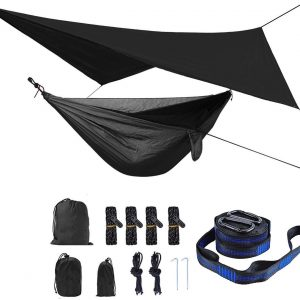 Camping Hammock with Mosquito Net and Rain Fly Outdoor