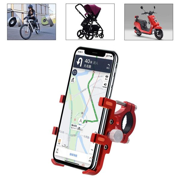 Bicycle Motorcycle Phone Mount Aluminum for iPhone Samsung Galaxy