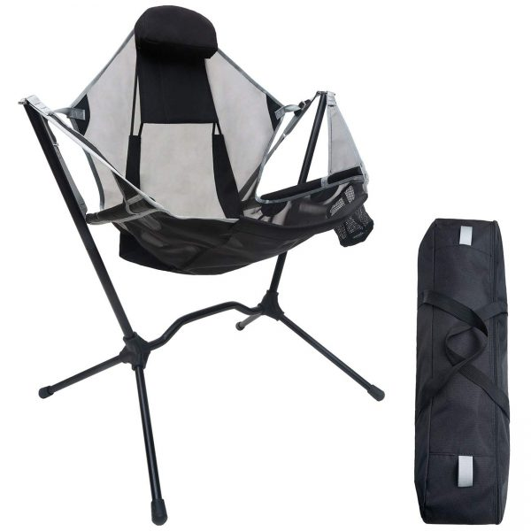 Camping Chair Portable Rocking Recliner Folding