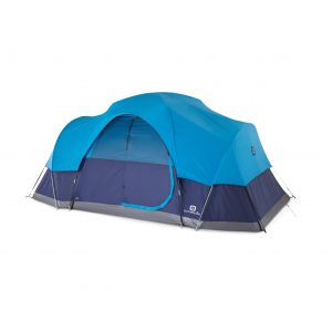 8-Person Dome Tent for Camping with Carry Bag and Rainfly