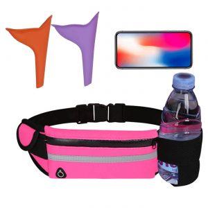 Female Urinal for Women, Pink Waist Bag, Female Urination Device