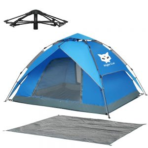 Night Cat Waterproof Camping Tent for 1 2 Person