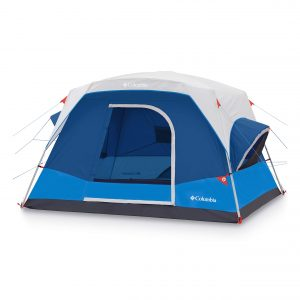 """STRAIGHT WALL DESIGN: Straighter walls mean more internal space and higher ceilings for you. The 10' x 9' floor plan with a 72"""" center height fits 6 campers, or one queen air mattresses"""