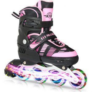 Beginner Roller Skates with Light Up Wheels