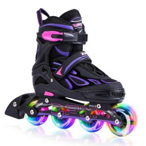 Adjustable Inline Skates with Light up or Kids Boys and Ladies