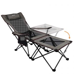 2 in 1 Folding Camping Chair Portable Lounge Chair