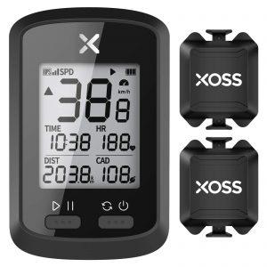 XOSS G+ GPS Bike Computer ANT+ with 2 Smart Cadence Sensor