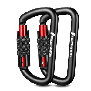 Locking Carabiner Clips-Twist Auto Lock Caribeener