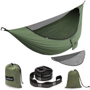 Double & Single Portable Outdoor Hammocks Parachute Lightweight