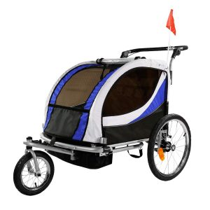 3-in-1 Double 2 Seat Bicycle Bike Trailer Jogger