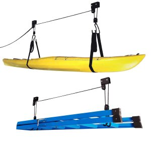 Overhead Pulley System with 125 lb Capacity for Kayaks