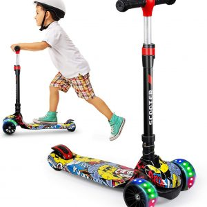 SISIGAD Kick Scooter for Kids, 3 Wheel Kids Scooter