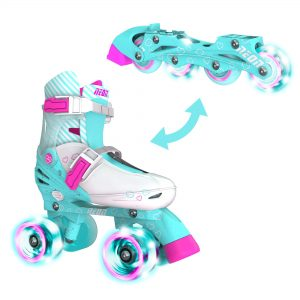 Quad and Inline Skates for Kids with LED Wheels