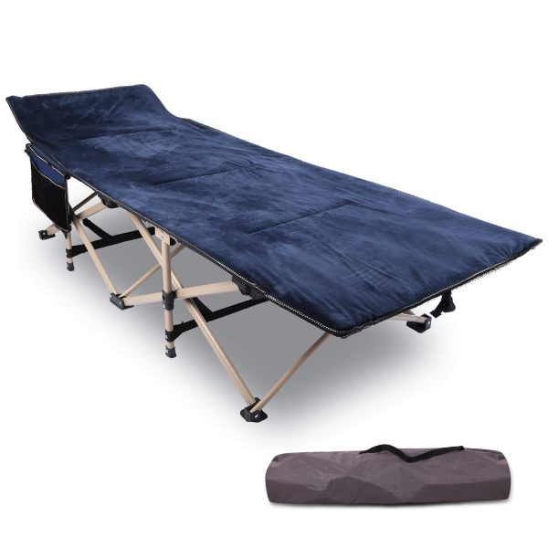 Folding Camping Cots for Adults with Mattress Pad