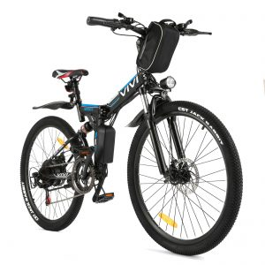 "VIVI Folding Electric Bike 26"" Lightweight 350W Ebike"