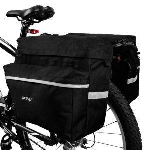BV Bike Bag Bicycle Panniers with Adjustable Hooks