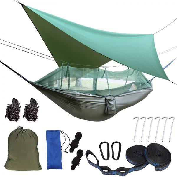 Portable Camping Hammock with Rain Fly Tarp