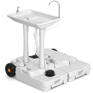 Portable Sink Camping 30L with Rolling Wheels