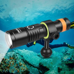 Scuba Diving Video Light 140 Degrees Super Wide Beam Angle