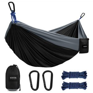 Double & Single Portable Hammocks with 2 Hanging Ropes