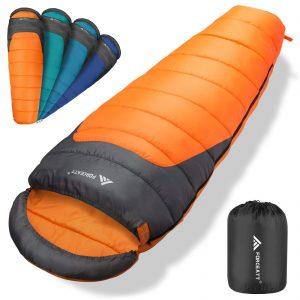 Lightweight Camping Sleeping Bag for Adults & Teens
