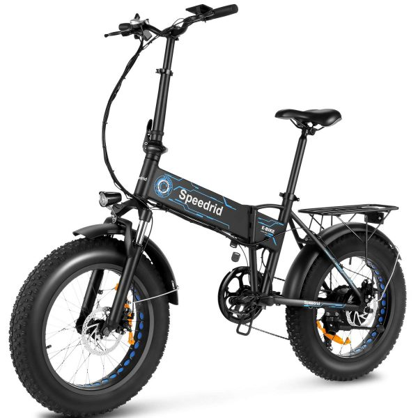 Speedrid Ebikes for Adults, 20'' 4.0 Fat Tire Electric Bike