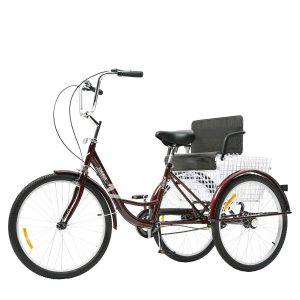 Adult Tricycle Three Wheel with Child Seat Rear Basket