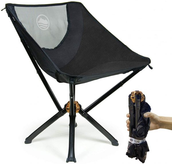Camping Chair Supports 300lbs Bottle Sized Compact