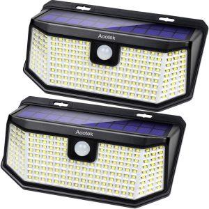 Solar motion sensor lights with Wide Anglefor Patio Garden