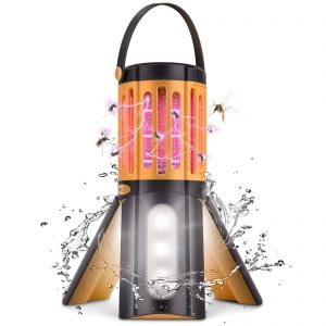 LED Camping Lantern Tripod Tent Light with Hook Portable Indoor Outdoor Mosquito Killer