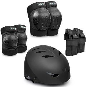 Skateboarding Bike Protective Gear with Elbow Knee Wrist Pads