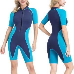 OMGear Wetsuit Men Women 3mm Neoprene Shorty