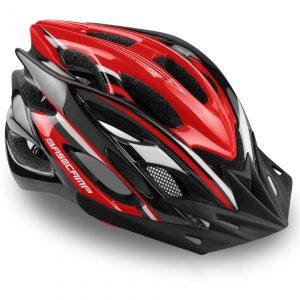 Bike Helmet Led Light/Removable Visor/Portable Bag