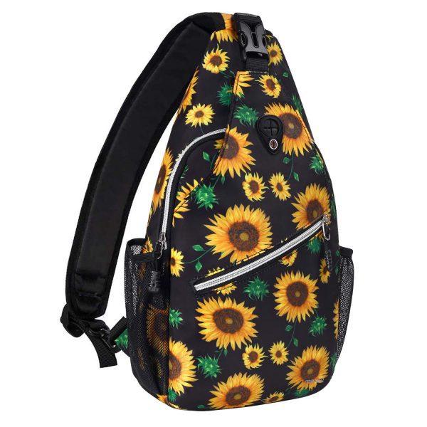 Hiking Daypack Sunflower Rope Crossbody Shoulder Bag