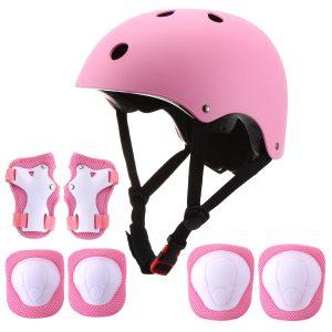 Kids Bike Helmet and Knee Pads