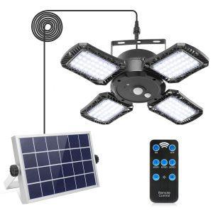Solar Shed Light with 128LED 1000LM Solar Security Motion Sensor