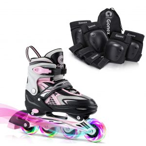 Gonex Size S Inline Skates with Skateboard Elbow Pads