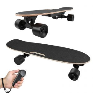 Adjustable Speed Electric Skateboard with Wireless Handheld Remote Control