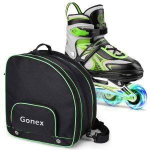Gonex Inline Skates for Girls Boys Kids Size M