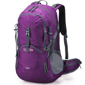 Women Waterproof Backpacking with Rain Cover for Outdoor