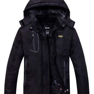 Wantdo Women's Mountain Waterproof Fleece Ski Jacket