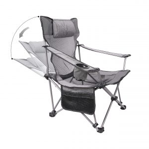 Folding Camping Chair Adjustable Lounge Recliner