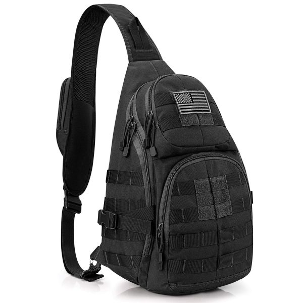 Tactical EDC Sling Backpack with Pistol Holster