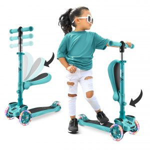 Wheel LED Lights Hurtle 3-Wheeled Scooter for Kids