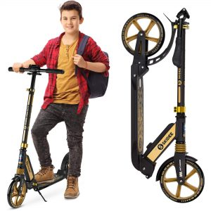 Adult Scooter with Anti-Shock Suspension Scooters for Teens 12 Years and Up