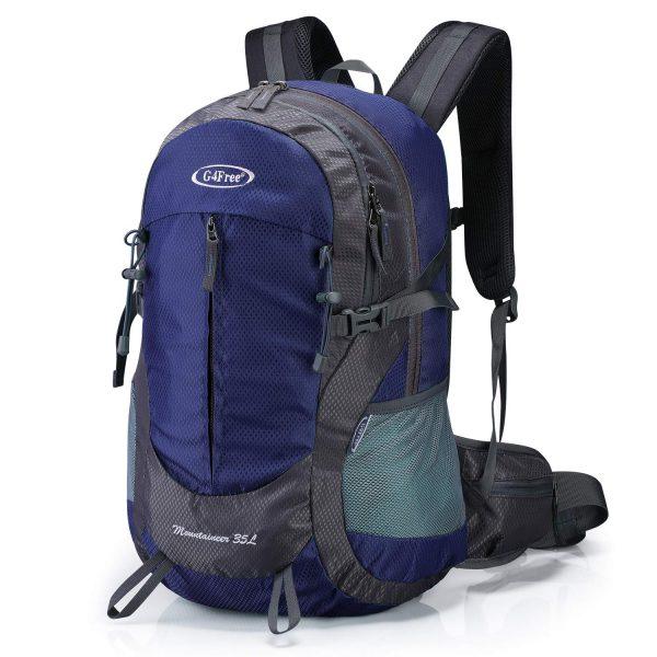 Women Men 35L Hiking Backpack Water Resistant